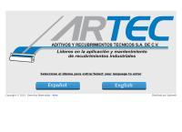 Sitio web de Aditivos y Recubrimientos Técnicos, S.A. de C.V. Artec