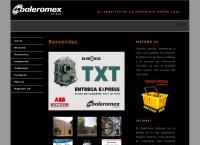 Sitio web de Baleromex, S.a. de C.v