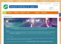 Sitio web de Industria Publicitaria de Jalisco, S.A. de C.V. IPJ