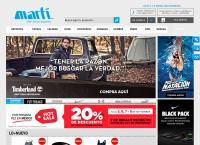 Sitio web de Deportes Marti, S.a. de C.v
