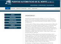 Sitio web de Puertas Automáticas Del Norte, S.a. de C.v