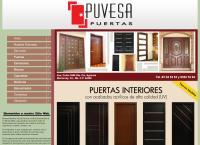 Sitio web de Puvesa Puertas, S.a. de C.v