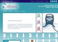 Sitio web de Recipientes y Empaques de México, S.A. de C.V. REMSA