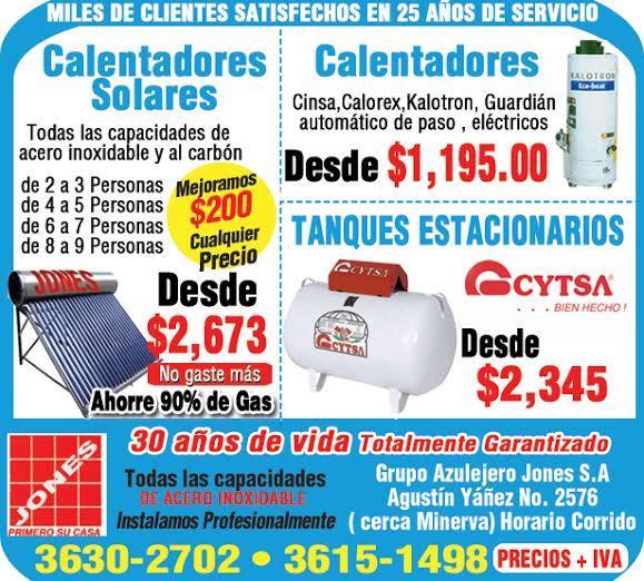 Grupo azulejero jones sa guadalajra agustin ya ez 2576 36302 - Calentadores de gas baratos ...