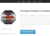 Sitio web de Onecore Software Noel Roman Matadamas