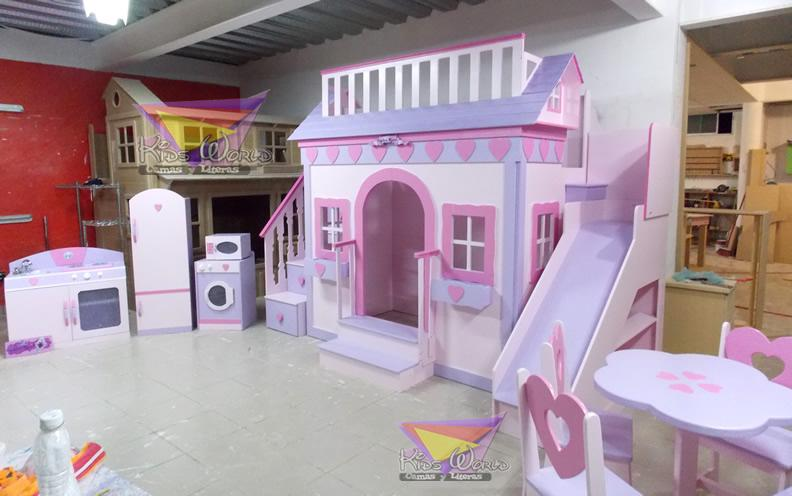 Camas y literas kids world quer taro prolongacion for Dormitorios para 4 ninas