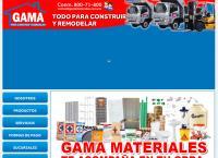 Sitio web de Gama Materiales y Aceros, S.a. de C.v