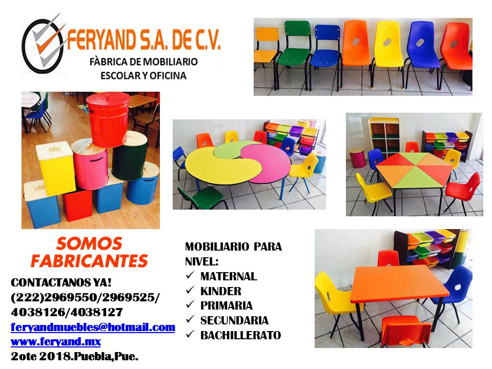 Mobiliario escolar feryand s a de c v puebla 2 oriente for Fabricantes de mobiliario de oficina