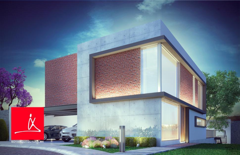 Soy arquitectura puebla lirios 012228903 for Casas modernas renders